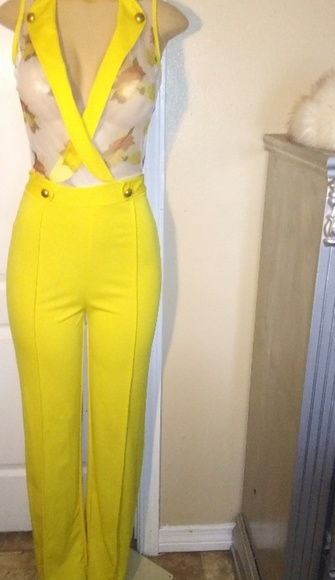 Other - New yellow all- in -one outfit